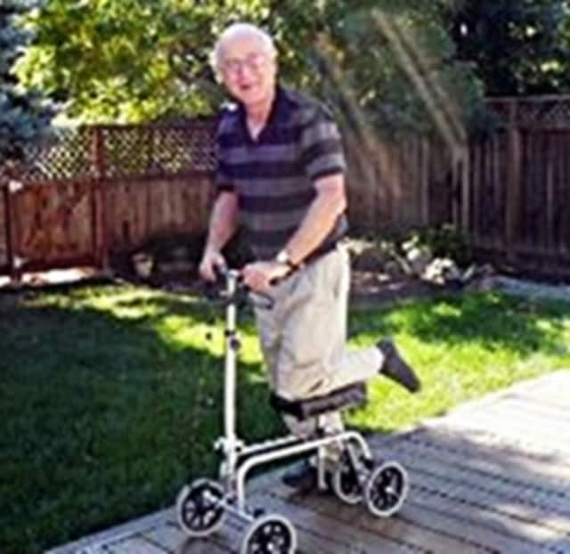 Knee scooters are one type of medical equipment that can be borrowed from Teaneck's Rinat Chaim Gemach.