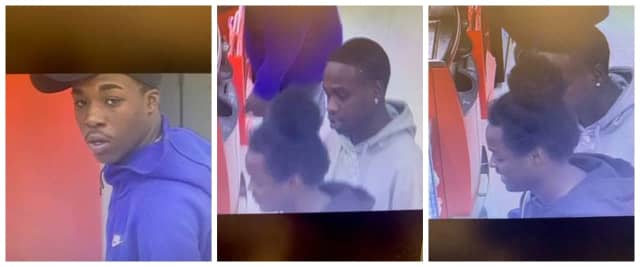 Know them? Police are the public for help identifying the three suspects wanted in the theft of numerous wallets from moviegoers.