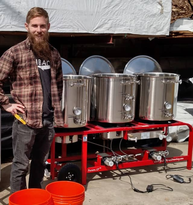 Kyle Acenowr, head brewer at Nod Hill Brewery in Ridgefield.