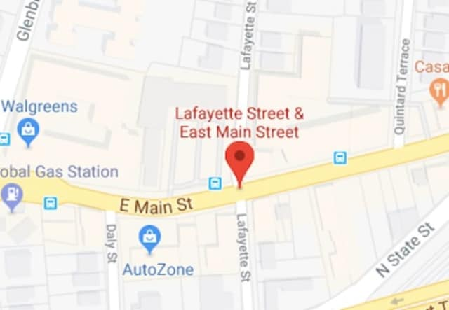 A man walking his dog was hit by a car at the corner of East Main Street and Lafayette Street in Stamford