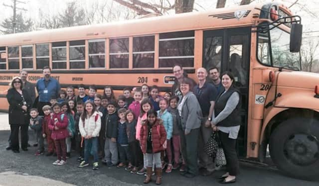 Students on the New City Elementary School bus won recognition in April.