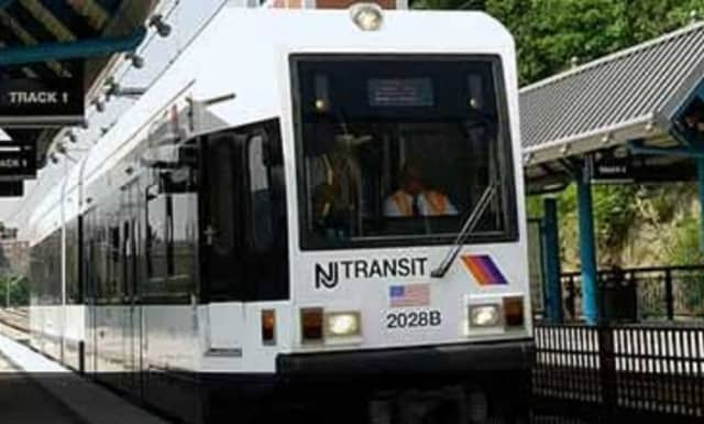 A woman was fatally struck by a light rail train in Weehawken Monday.