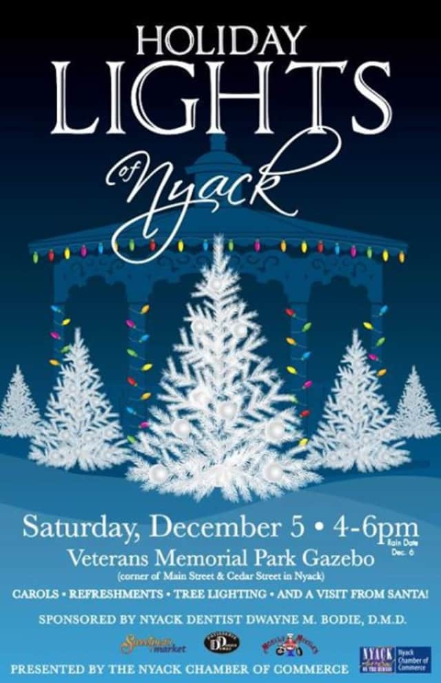 Holiday Lights of Nyack takes place Dec. 5.