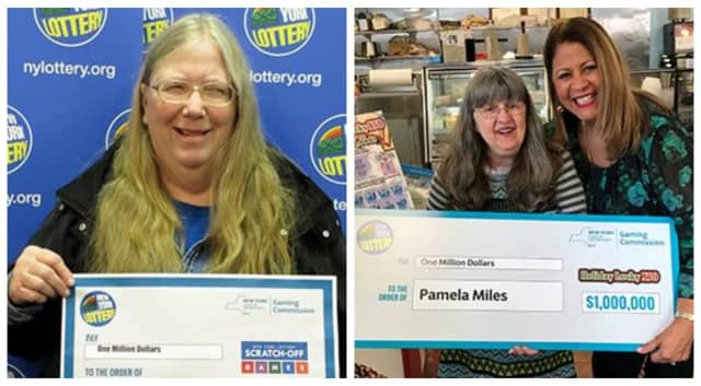 Cheryl Murray and Pamela Miles were lucky $1 million lottery winners.
