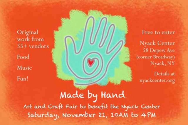Made by Hand will benefit the Nyack Center on Nov. 21.