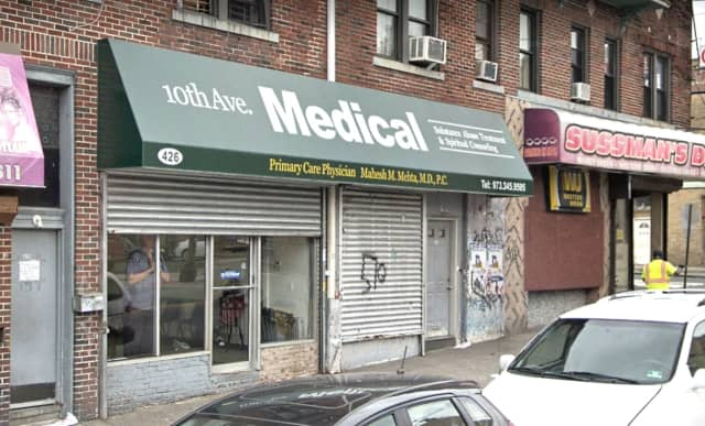 Dr. Mahesh Mehta's 10th Avenue office in Paterson.