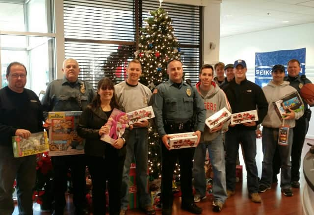 Mahwah's finest during last year's toy drive.