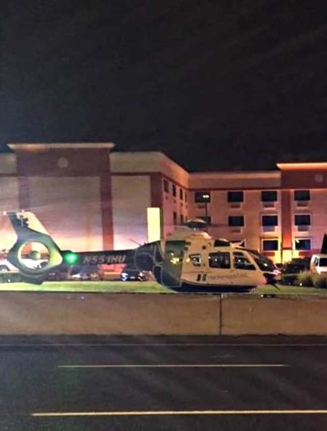The victim was alive at the hospital this morning, authorities said.