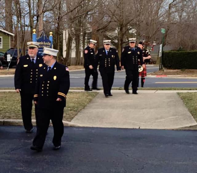 A mass honoring the deceased members of Mahwah's Fire Company 2 was held Sunday morning at the Immaculate Heart of Mary Church.