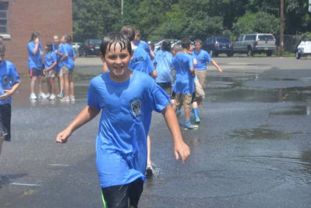 Young Mahwah residents run around during a program operated by the Mahwah Municipal Alliance.