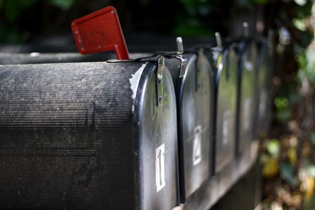 Dozens of residential mailboxes were broken into in Fairfield County, police said.
