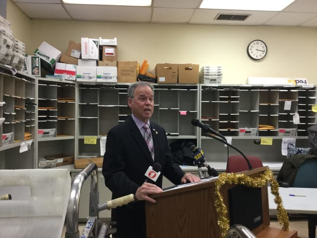 Rockland County Executive Ed Day announces his plan to fund local non-profit organizations.