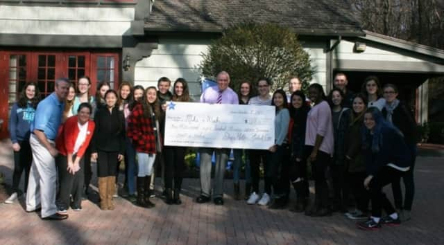 Sleepy Hollow High School Students delivered the $1,836.41 they collected through Penny Wars at school to Make-A-Wish Foundation Hudson Valley.