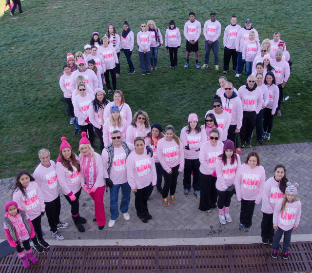 The Spencer Team at the 2015 Making Strides Against Breast Cancer Walk in Overpeck Park