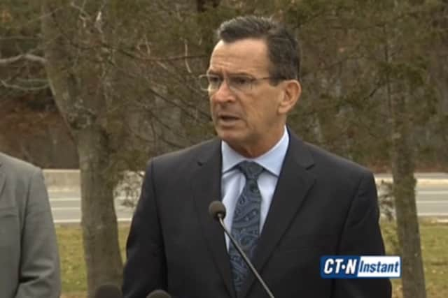 Gov. Dannel P. Malloy cancelled a visit to Wilton on Thursday.
