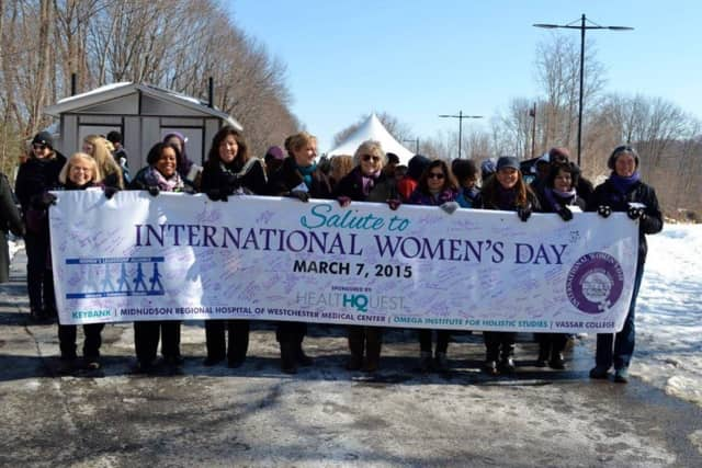 Last year, participants marched for International Women's Day, as well.