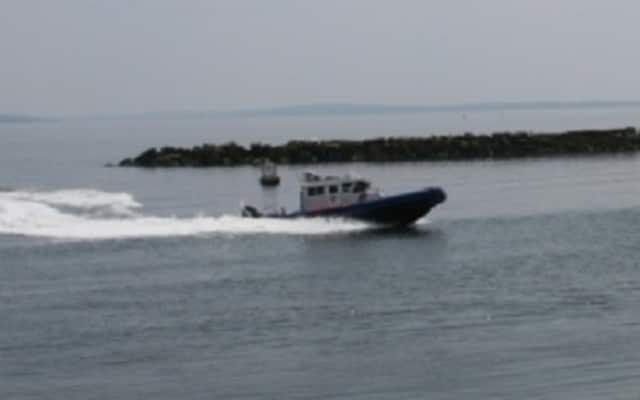 Two patrol boats from the Westchester County Police Marine Unit responded to an 18-foot powerboat on fire Saturday on the Hudson River near Briarcliff Manor. County police officers rescued a man and woman in their 20s and then extinguished the fire.