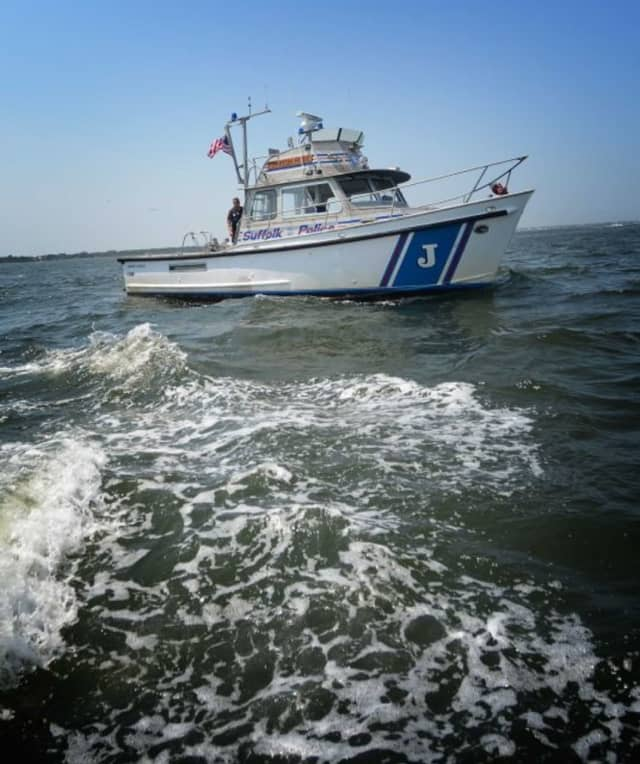 A mother and daughter who were blown offshore while kayaking on the Long Island Sound were rescued by Suffolk County Police Marine Bureau officers.