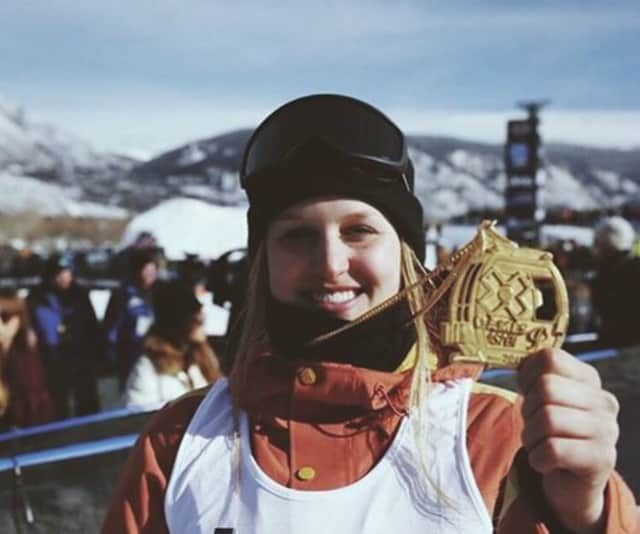 Julia Marino of Westport won a gold medal Saturday at the X Games in Aspen, Colo.