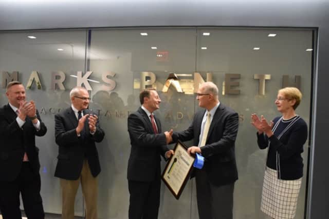 Westchester County Executive Robert Astorino recently helped lead staffers at Marks Paneth LLP open a 20,000-square-foot facility in Purchase.