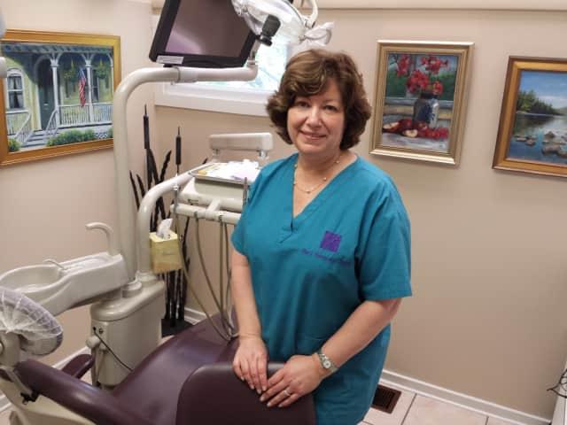 Dentist Mary Mancuso-Englander in her Fair Lawn office.
