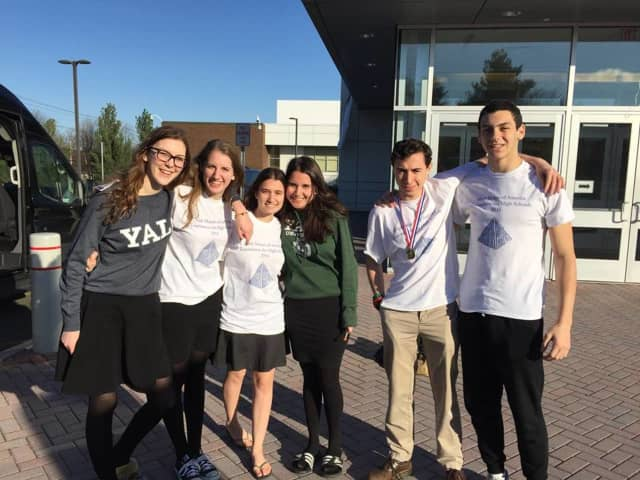 Students from the Frisch School recently went to Yale to compete in a math contest.
