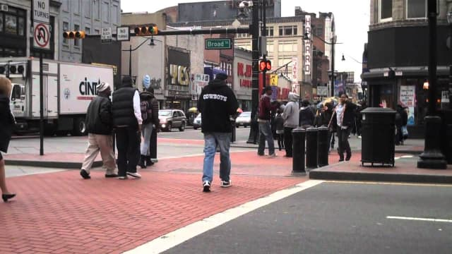 Broad and Market streets in Newark, one of the most heavily trafficked intersections in the state, was the scene of a deadly shooting Tuesday morning.
