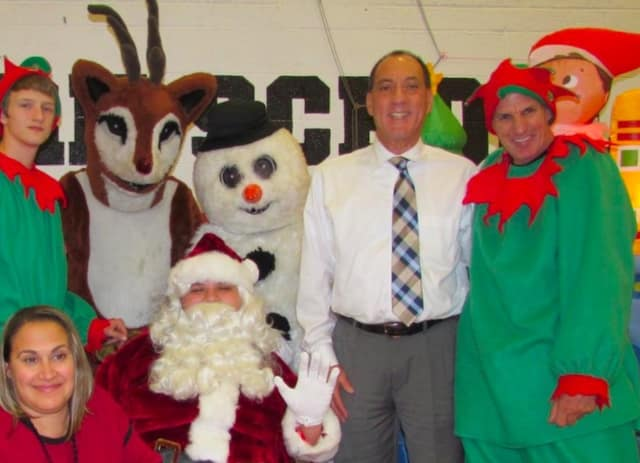 Mayor Thomas Calabrese met with Santa and his elves in Cliffside Park for a school story time.