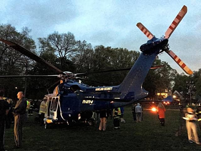 The Ho-Ho-Kus Fire Department worked on medivac preparedness on Thursday.