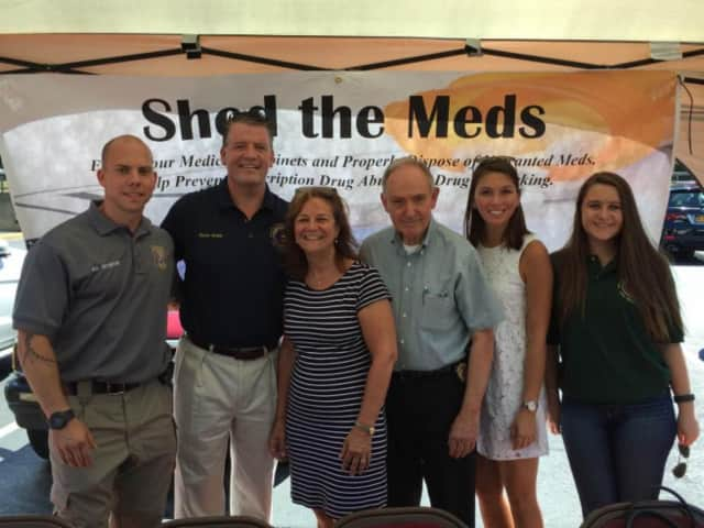 State Sen. Terrence Murphy, R-Yorktown, is shown with partners at a launch event for Shed the Meds, an opportunity to safely dispose of prescription drugs in Croton-on-Hudson. The drugs can also be brought to the Croton Police Department.