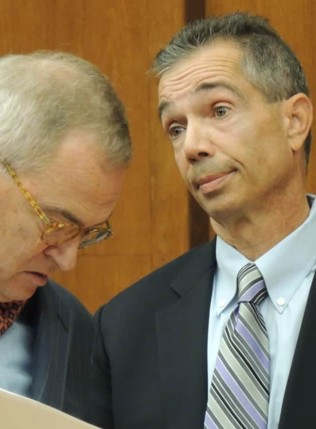 Edward Meier with defense attorney Brian Neary