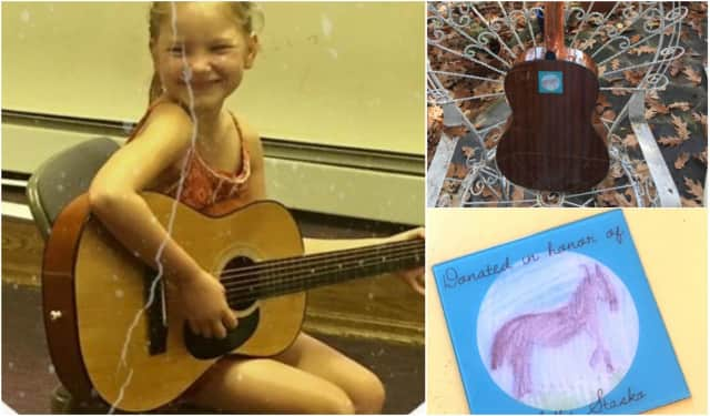 A guitar dedication ceremony will be held at the Edgewater Public Library in honor of Mellie Stasko, 8.