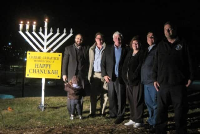 Franklin Lakes will light the borough's menorah at a public event with emergency service workers in attendance. Shown is a previous year's lighting.