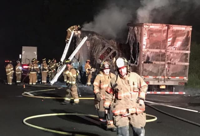 Firefighters from Mahwah and Tuxedo were among the mutual responders.