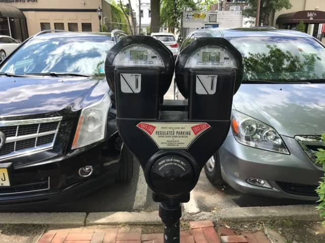 Meters in downtown Westwood take just 25 cents for two hours.