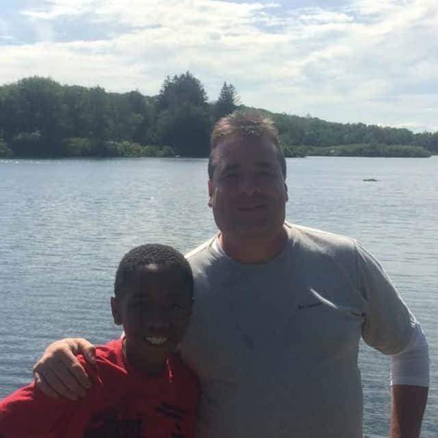 Mike O'Connor of Cortlandt Manor serves as a Big Brother to Tyrique Bristol, 10, of Yonkers.
