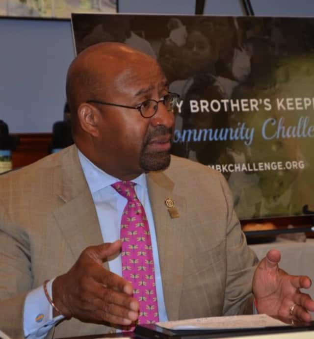 Philadelphia Mayor Michael Nutter attends a meeting about pre-K access on Monday in Bridgeport.