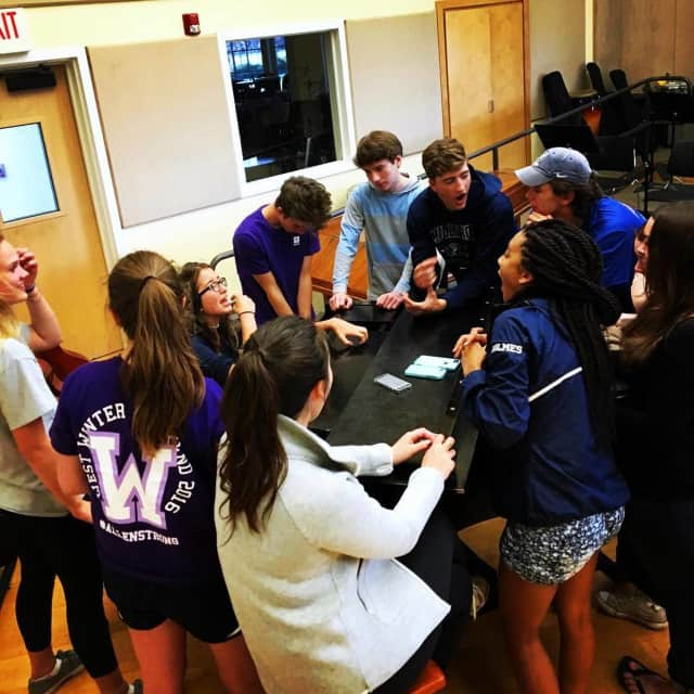 The Millbrook Singers rehearse for Millbrook School's upcoming Commencement.