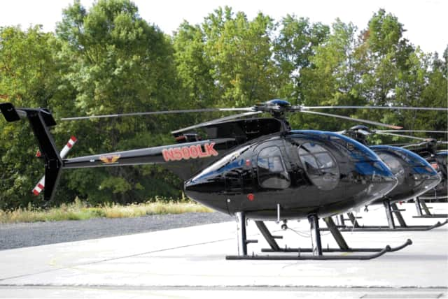 Eversource is conducting helicopter inspections of its transmission lines in Fairfield County.