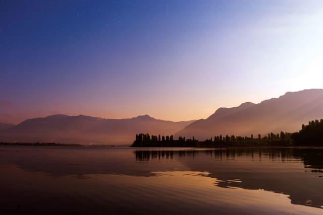 Lake in Kashmir, India. Photograph by Mukul Joshi.