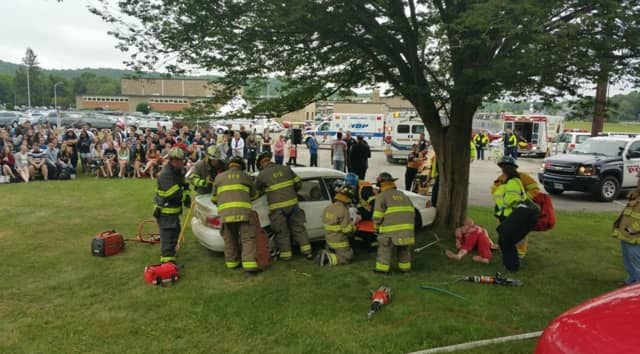 """Franklin D. Roosevelt High School in Hyde Park held annual """"Mock DWI"""" event on campus on Friday, June 3."""