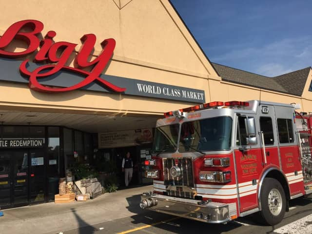 Monroe Volunteer Fire Department, No.1 Inc. visited Big Y after the fire suppression system was activated on May 26.