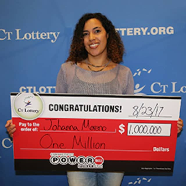 Johanna Moreno of Torrington won $1 million in the Powerball drawing Wednesday night.