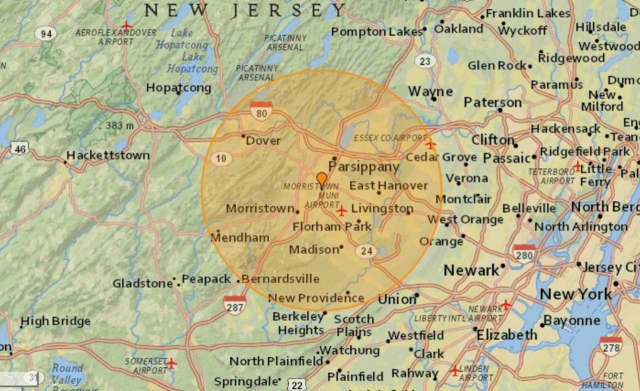 The quake was recorded a little over a mile from Morris Plains at 6:35 p.m., earthquaketrack.com reported.