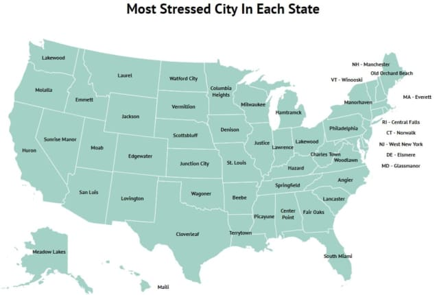 This city is the most stressed city in Connecticut, according to new rankings
