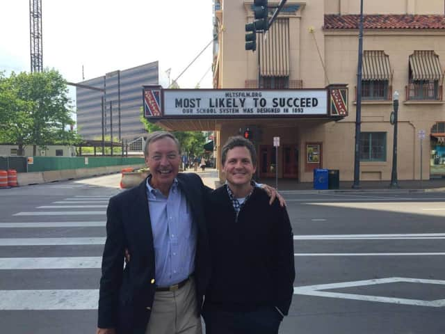 "Ted Dintersmith, executive producer, left, and Greg Whiteley, director of ""Most Likely to Succeed."""
