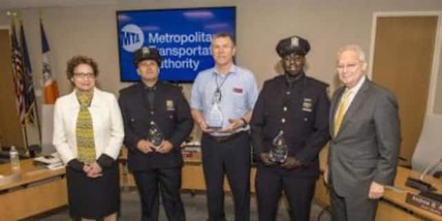 Several MTA employees were honored for helping return an autistic teen to his family in Queens.