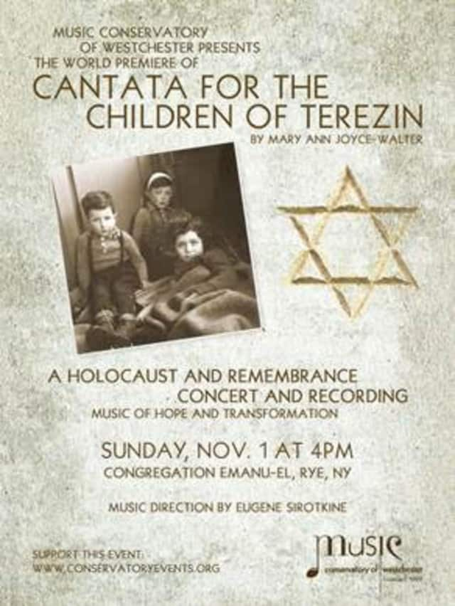 Official poster for Cantata for the Children of Terezin