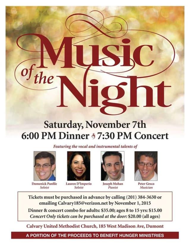Calvary United Methodist Church presents a Music of the Night concert on Nov. 7
