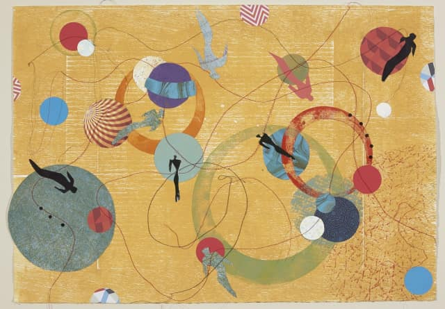 """Mystic Orbit 7"" by Diane Pollack, one of the artists on display at the Wilton Library's new exhibit opening June 3."